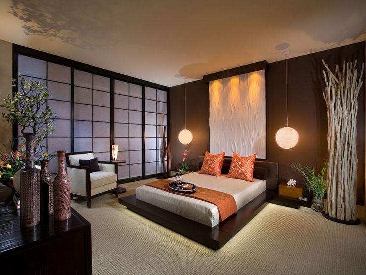 Japon Stili Otel Yatak Odası Dekorasyonu