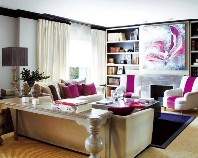klasik Renkli Oturma Odası Dekorasyonu