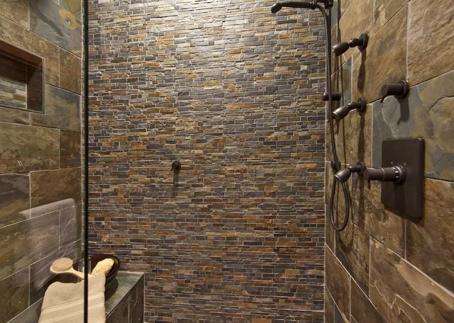 Taş Duvarlı Banyo Tasarımları